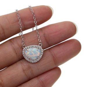 Opal w/CZ Necklace,NWT